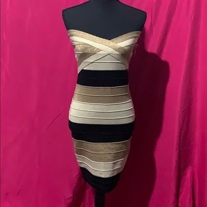 Strapless bondage dress